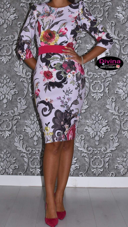 vestido estampado lila