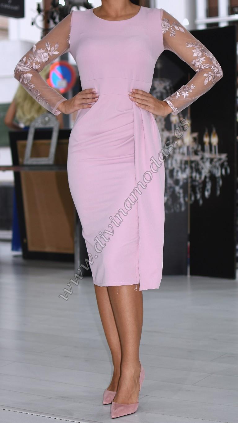 Vestido elegante rosa