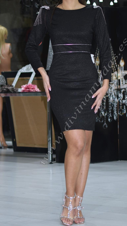 Vestido brillante negro
