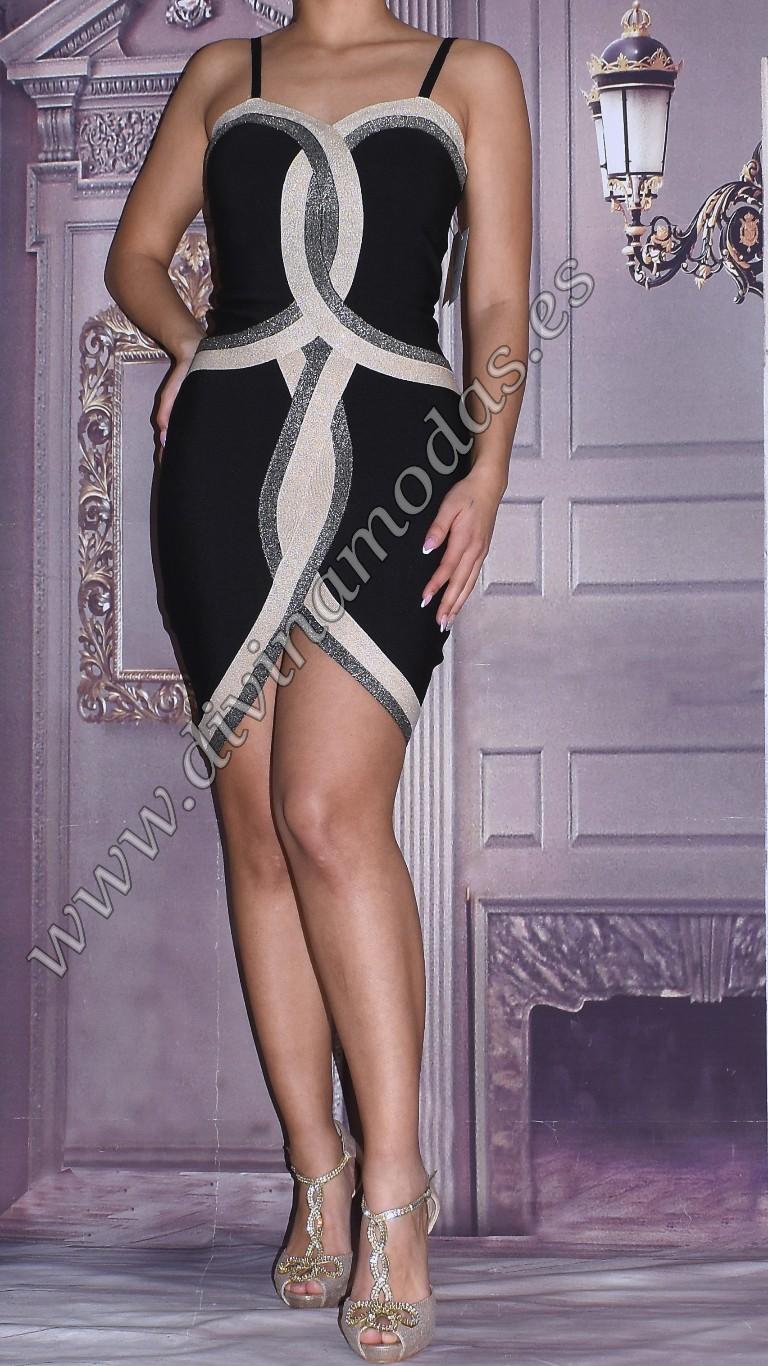 vestido bandage negro