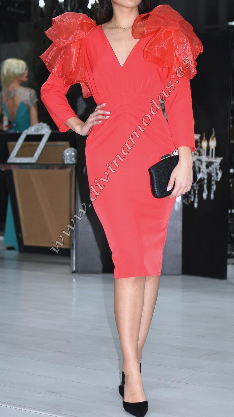 vestido rojo fiesta