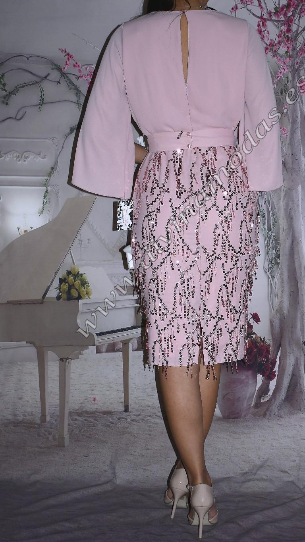 vestido rosa fiesta